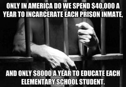 incarceration vs education