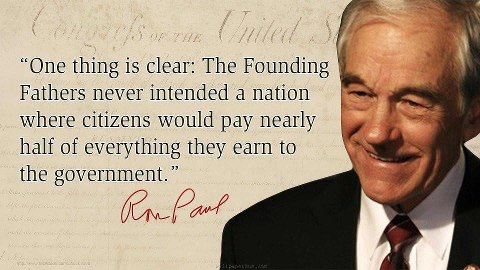 ron paul on taxes