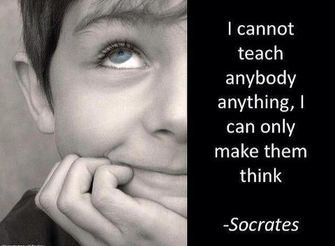I cannot teach anybody anything i can only make them think socrates
