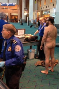 TSA Portland Oregon John E. Brennan, 49, stripped naked