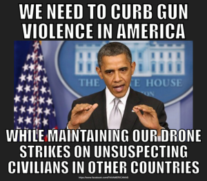 gun control and drone strikes
