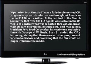 Project Mockingbird the cia posed as journalists to deliberately missguide and manipulate the public