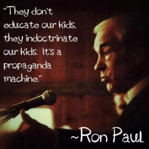 schools education and propaganda machine