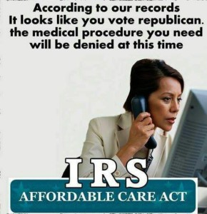 the irs has always been a corrupt syping entity used to subjigate people... let's put them in charge of health care