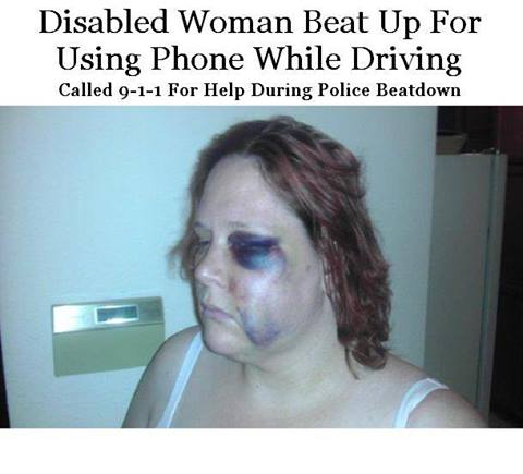 Disabled woman beated for using cell phone while driving