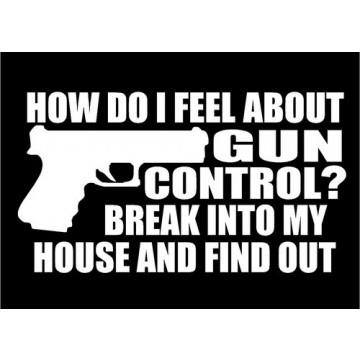 break into my house to find out how i feel about gun control