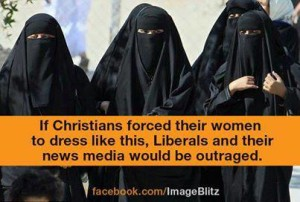 if republicans or democrats forced women to wear burkas we would be outraged